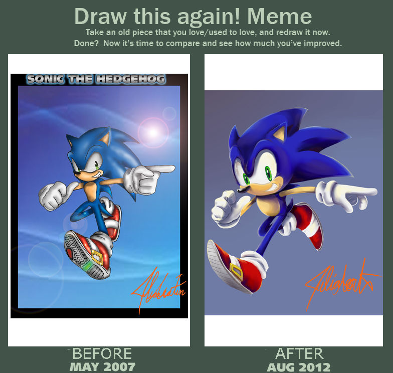 Draw This Again Meme With Sonic The Hedgehog By Dody Inferno On Deviantart