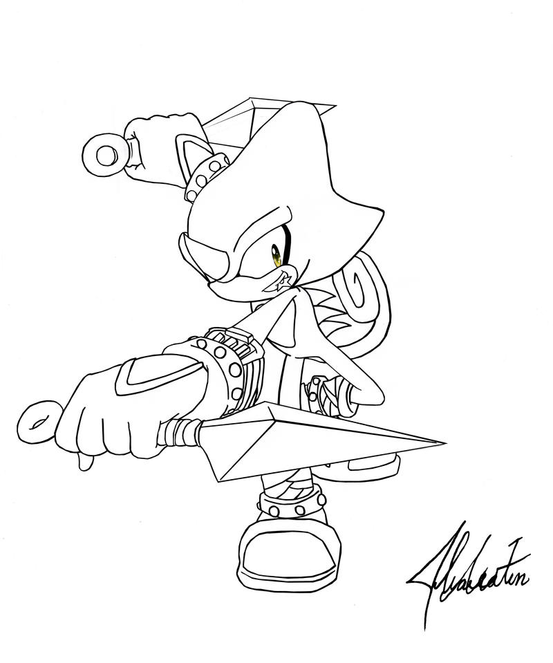 espio the chameleon lineart by dody inferno