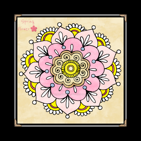 Creative Haven Coloring Book Floral By Pinayprincesa