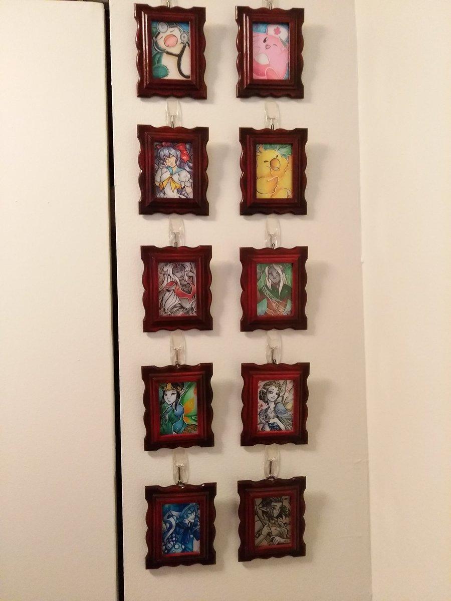 Framed ACEOs (art by Arofexfracona and bezzalair)