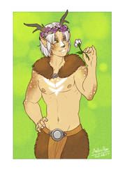 Faun Prince (art by Red-Lynx)