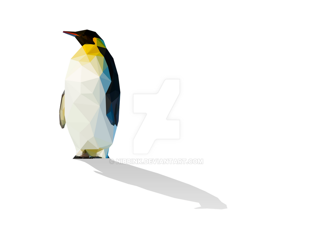 Low Poly Penguin Print Now Available by Nibbink on DeviantArt
