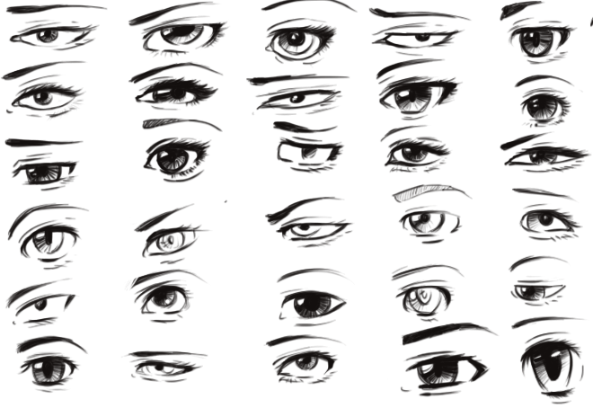 30 Artistic Anime Fantasy Eyes By Toxous
