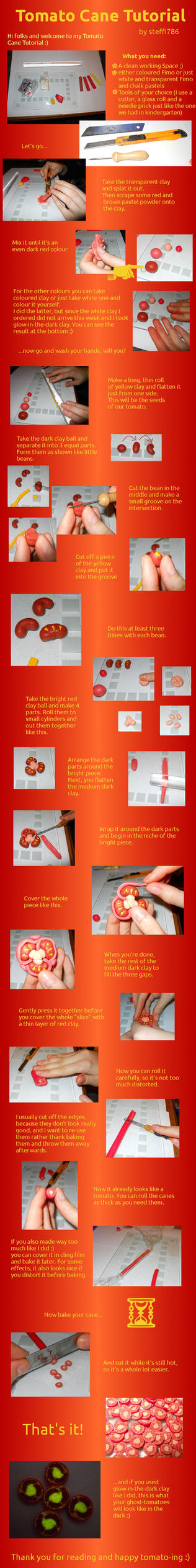 Tomato Cane Tutorial by geekySquirrel