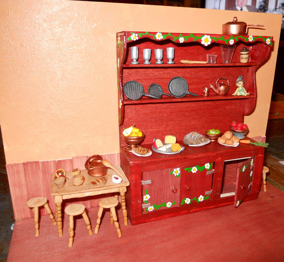 Miniature Kitchen Scene By GeekySquirrel On DeviantArt