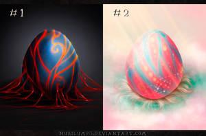 Eggs Adopts: #1 - #2 (2/2 OPEN) by nubilum93