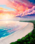 Seashore at sunset [Timelapse Video] by nubilum93
