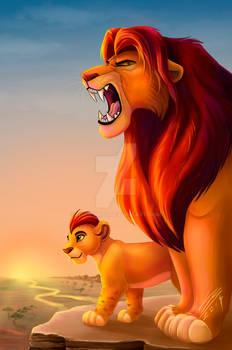 Simba and Kion - The Lion King