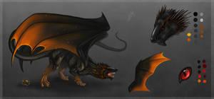 Fire Dragon ref sheet - Egg Adopt
