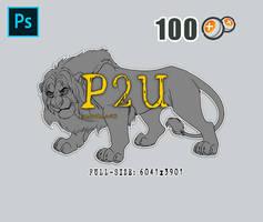 [P2U] Lion - High Quality Lineart
