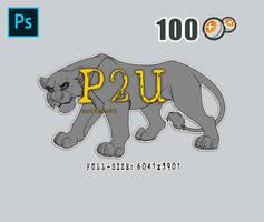 [P2U] Lioness - High Quality Lineart