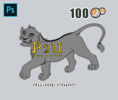 [P2U] Lioness cub #1 - High Quality Lineart