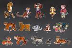 Cartoon tigers - Flash mob #1 by nubilum93