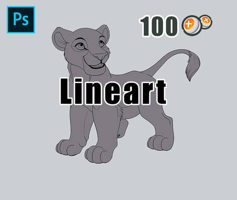 [P2U] Lion Cub - High Quality Lineart
