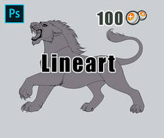 [P2U] Roaring Lion - Lineart