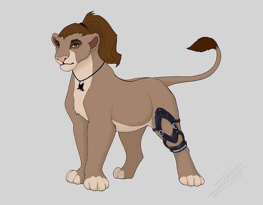 Raven from 'The 100' as a Lioness