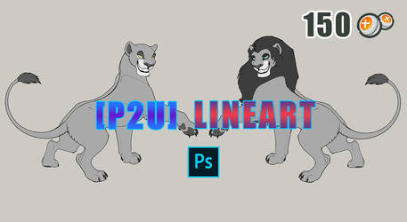 [P2U] Lions Lineart - Male and Female