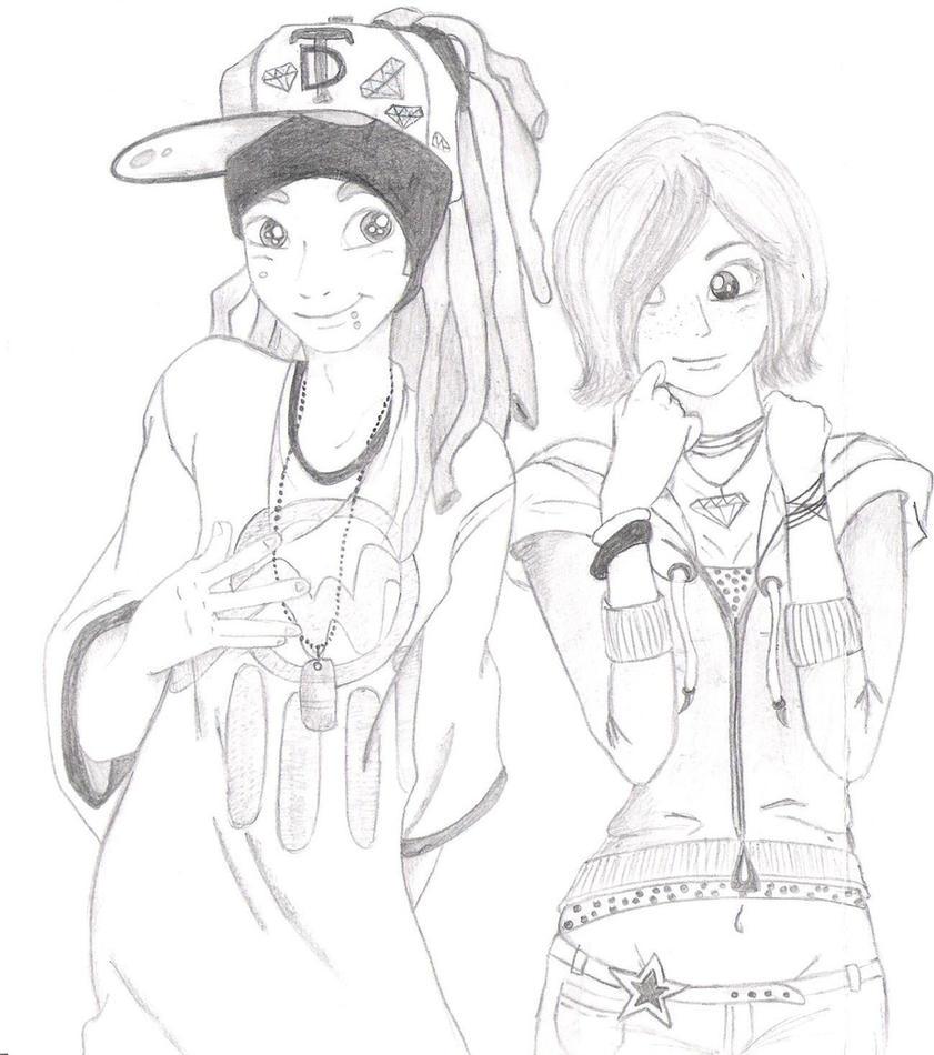 Gangsta Love Drawing Gangsta Love by Hellangel93