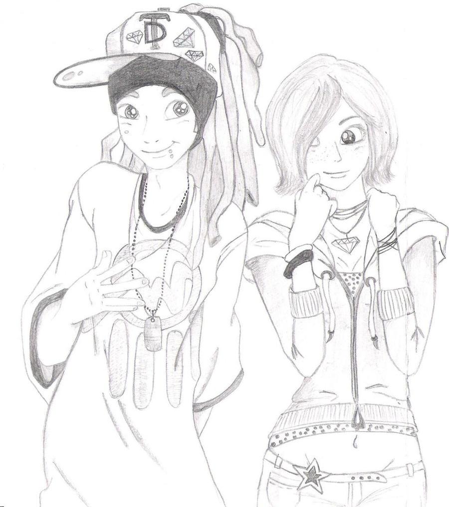 Gangsta Love Drawing Gangsta Love by