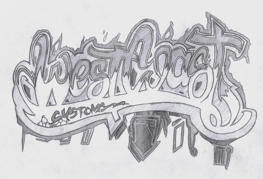 west coast lettering www pixshark images west coast customs graffiti by nobody cares on deviantart 436