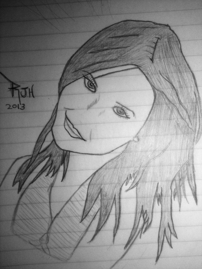 Beautiful girl drawing 4 by ir3vs