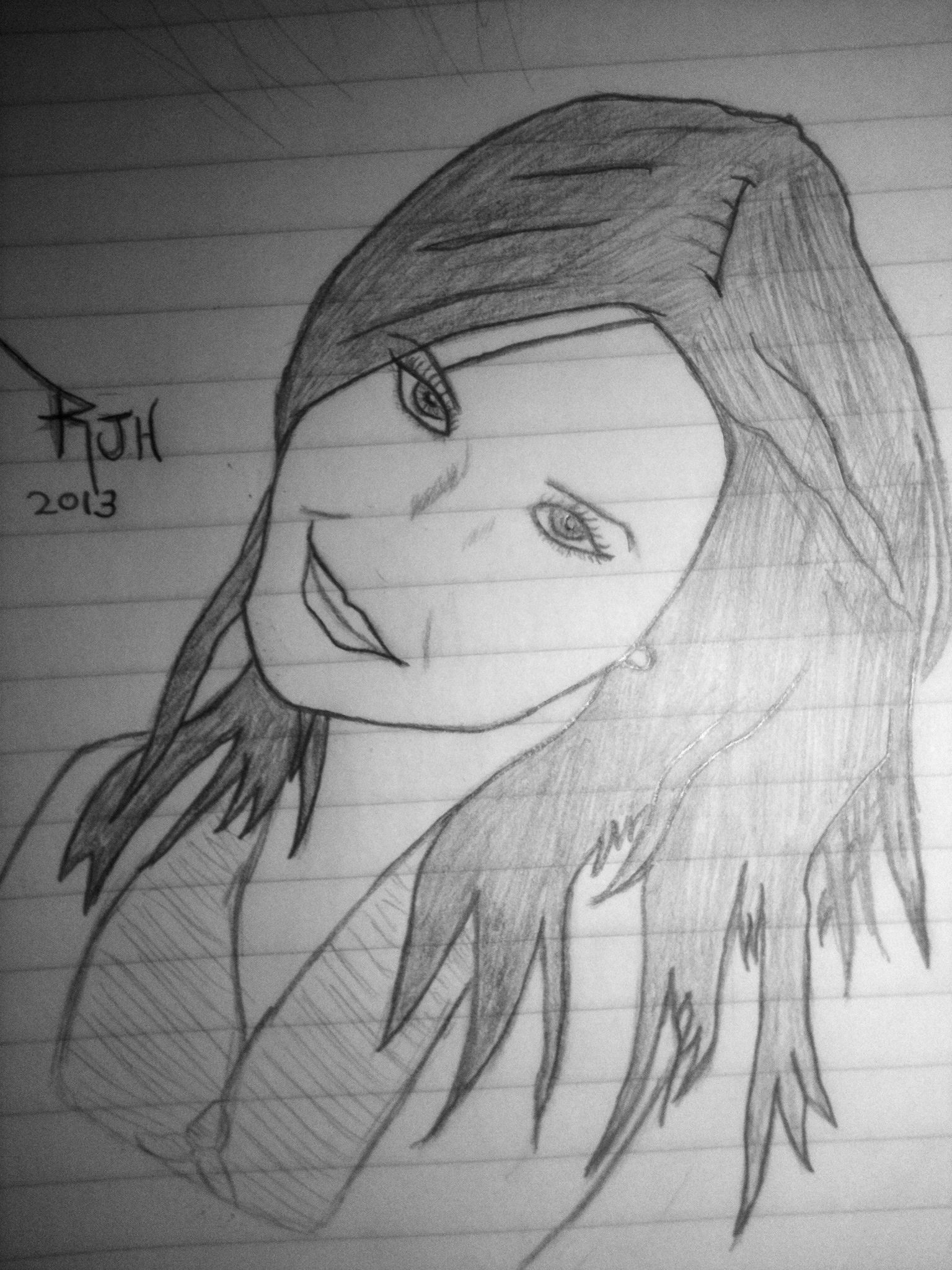 Beautiful girl drawing 4 by ir3vs on deviantart for Beautiful and easy pictures to draw