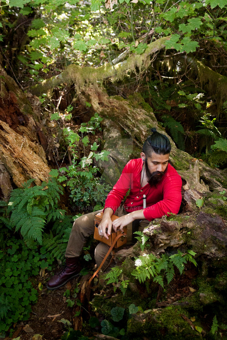 Self-Portrait @ Quinault (Red Union Suit 01) by Tahimek