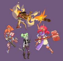 Battle Gals by Saindoo