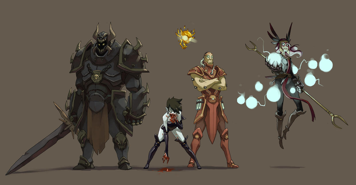 Baldur's Gate villains by Saindoo