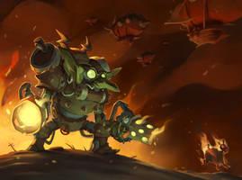 Goblin firebat by Saindoo