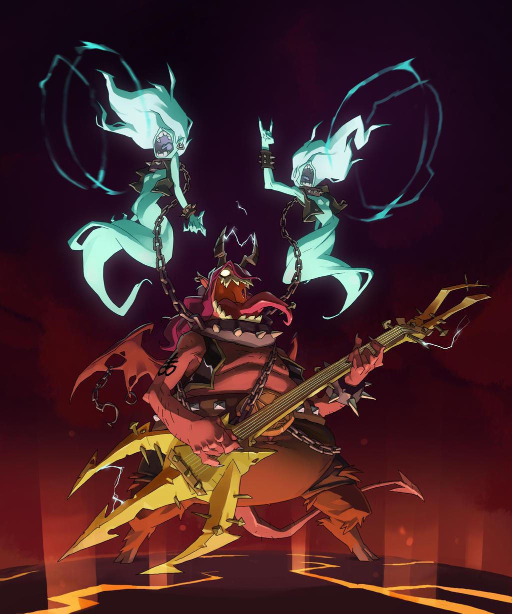 Character Design Challenge April : Metal demon by saindoo on deviantart