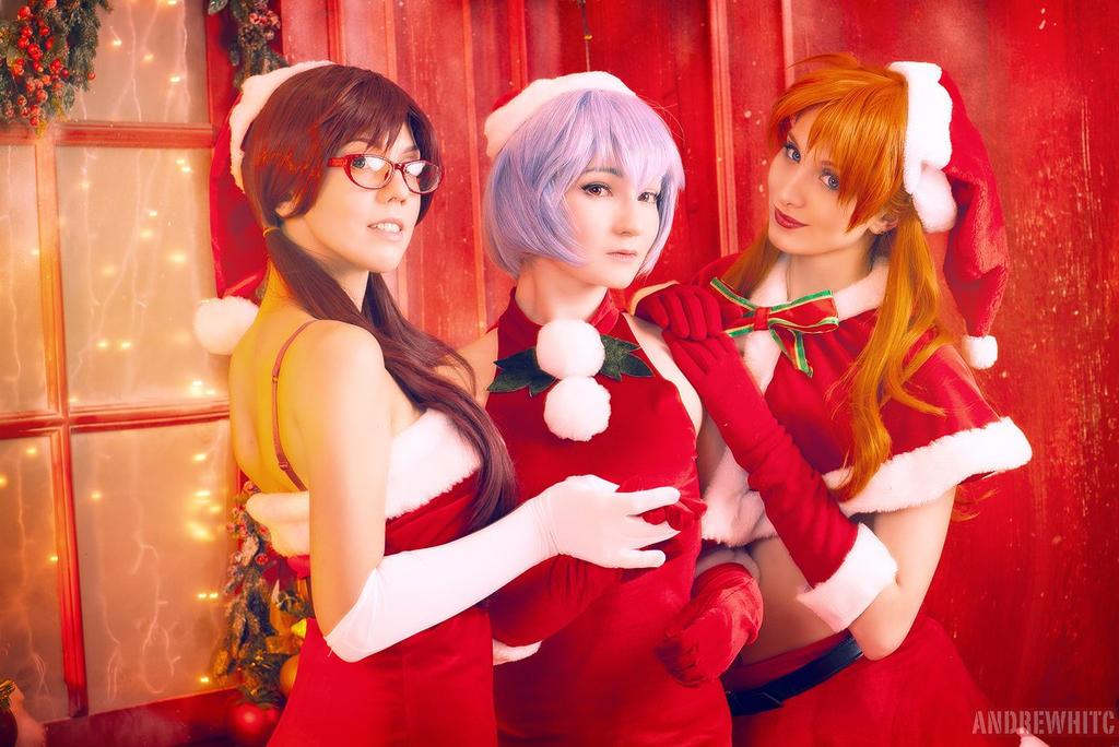 Evangelion - Christmas Asuka by Mari-Evans on DeviantArt
