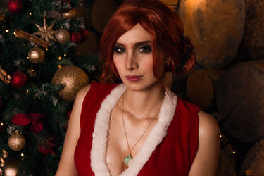 The Witcher - Triss Merigold (Christmas time) by Mari-Evans