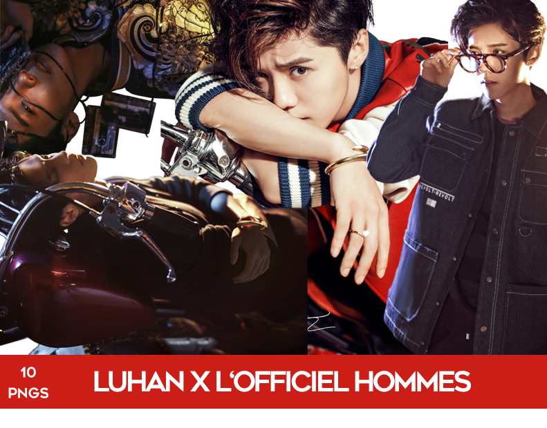 Luhan for L'Officiel Hommes PNG Pack by Bears-and-Cookies