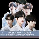 Baekhyun 170606 Airport PNG PACK