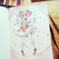 Madoka doodle by Yennineii