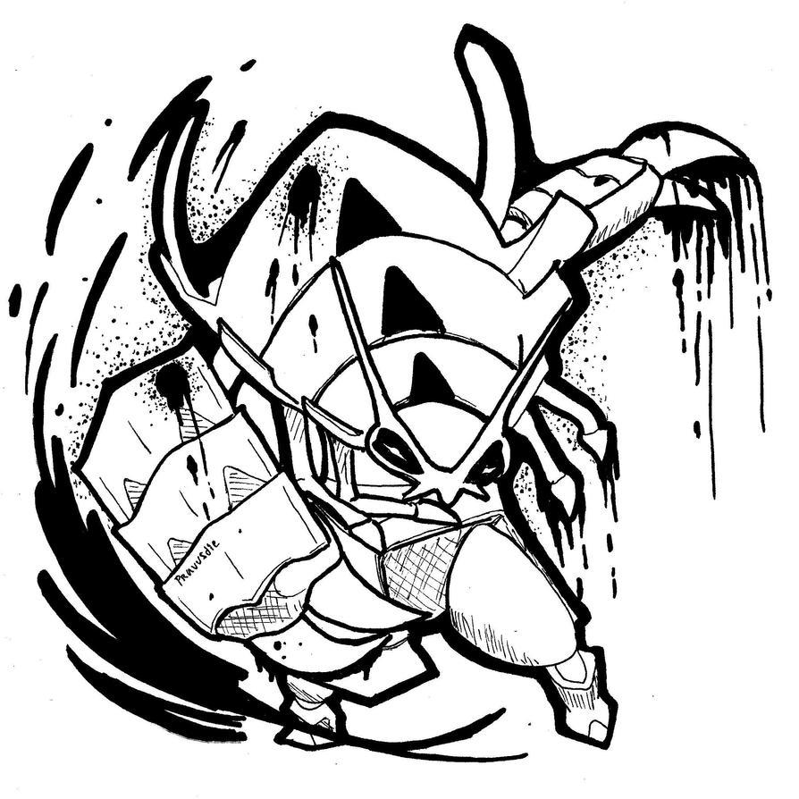 Golisopod Ink attack by Pravusdie