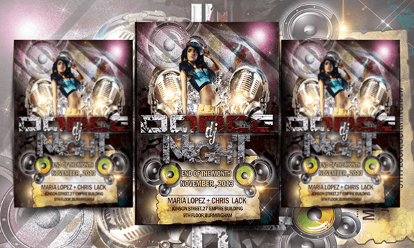 Dj Dance Party Free Flyer Template Psd By Designfreebie On Deviantart