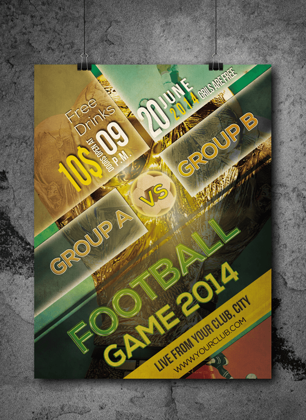 Football Tournament Free Flyer Psd Template By Designfreebie On