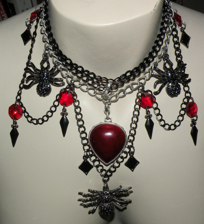 Spider Evil Necklace by kinyo-spoons