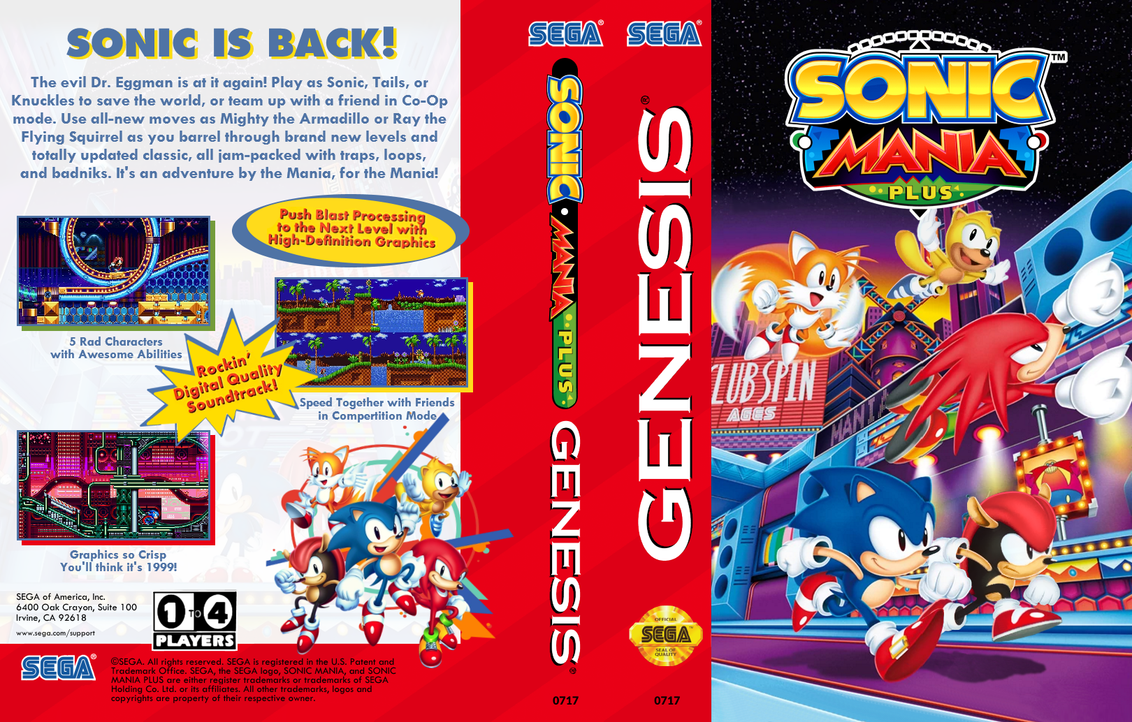 Sonic Mania Plus Reversible Sega Genesis Cover By Peasters On Deviantart