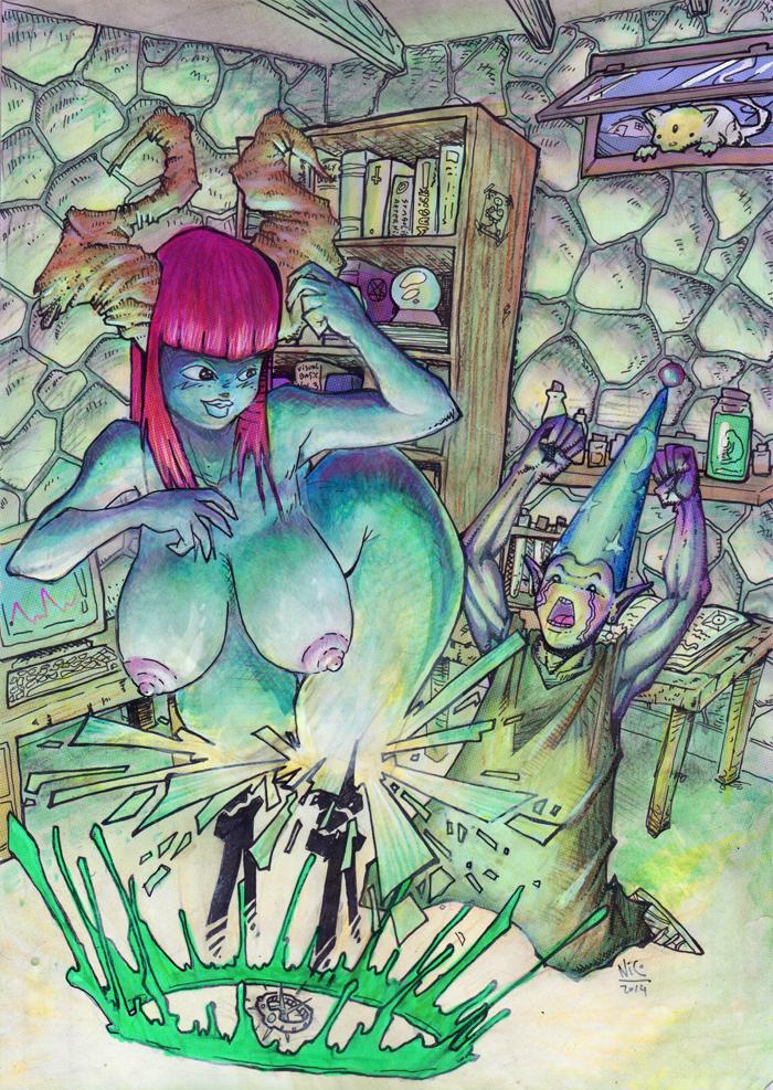 Demon summoning ritual by nicosucio