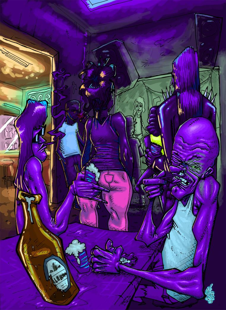 underground nightclub by nicosucio