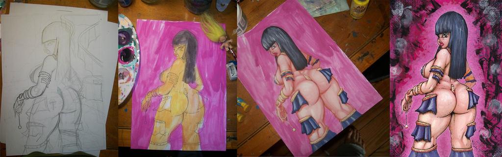 Warrior Queen process pics by nicosucio