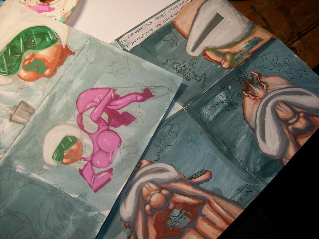'Acid' panels in progress by nicosucio