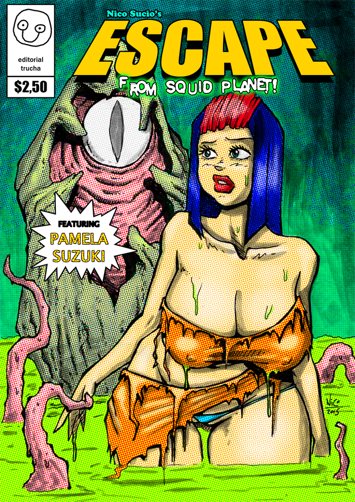Pamela Suzuki in 'Escape from squid planet!' by nicosucio