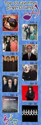 Top 10 Favorites Singers  Bands By Andiigrr