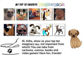 Top 10 Favorite Imaginary Dogs by Austria-Man