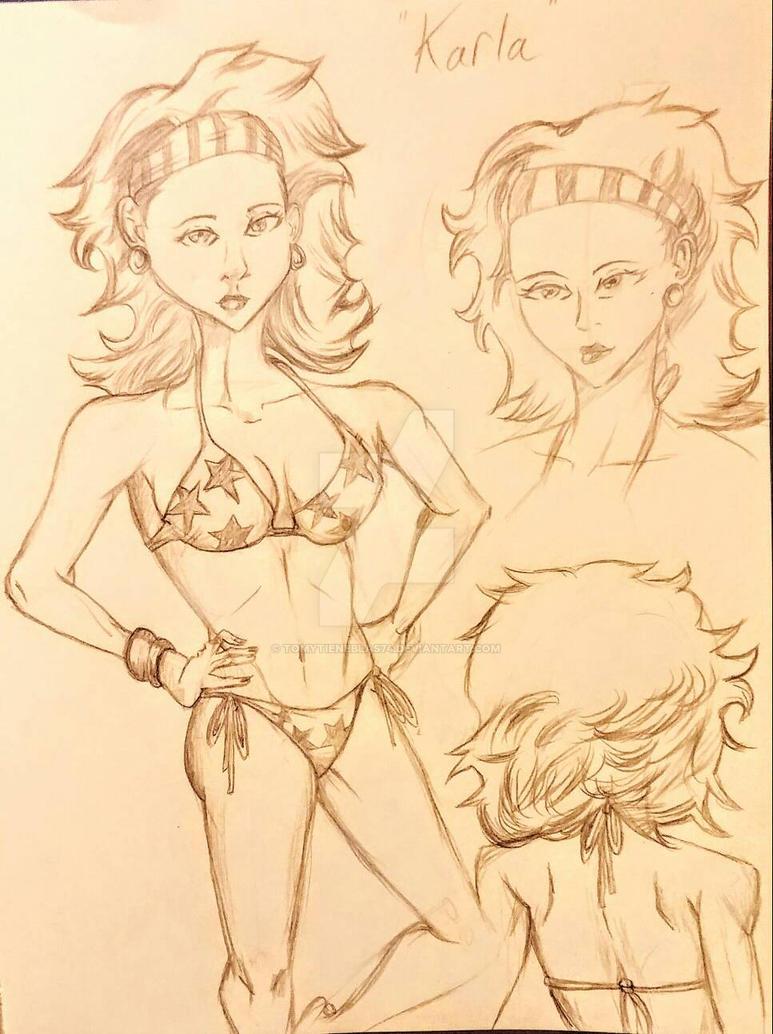 Starfire Character study - Karla ver. 1 by tomytieneblas74