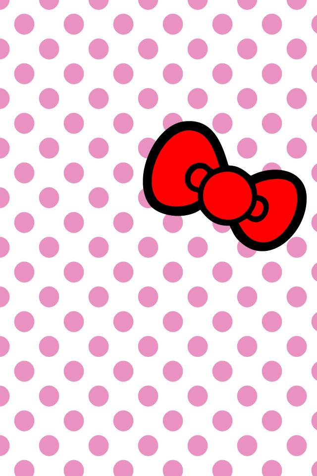 hellokitty bow iPhone wallpaper by will-yen on DeviantArt
